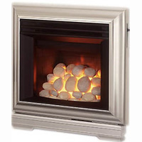 Valor Icon 2 Pebble Silver Gas Fire