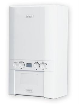 Ideal Logic HE 24kw Combi Boiler & Flue